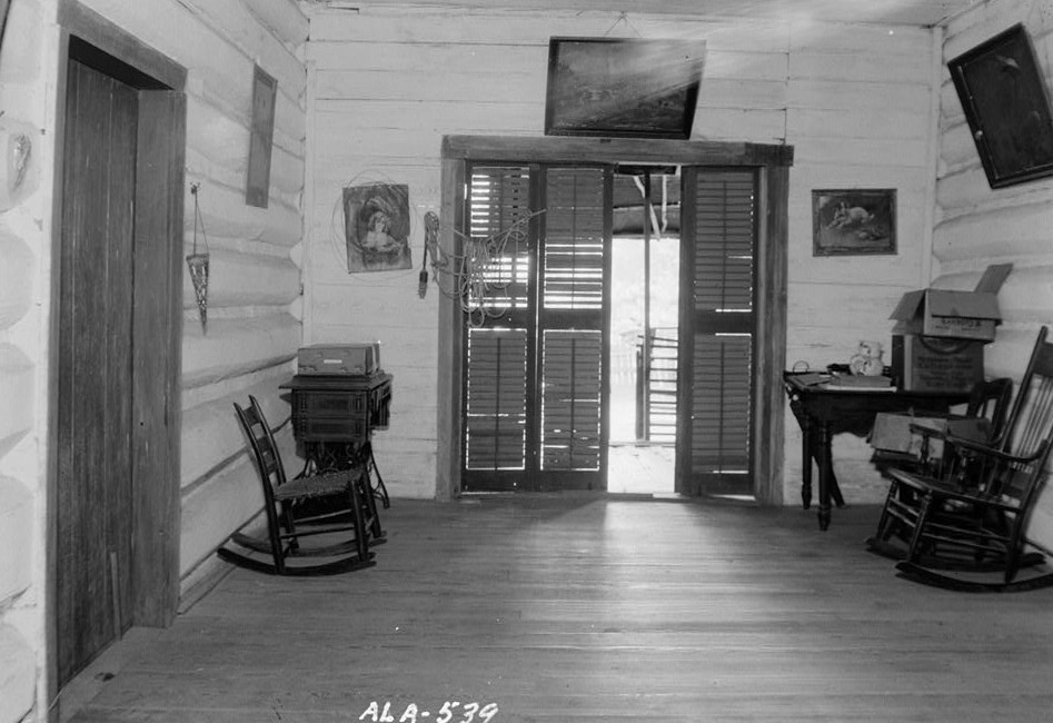 Octavia Adkinson House, Wilson Road, Peachburg, Bullock County, AL W. N. Manning, view in hall of back