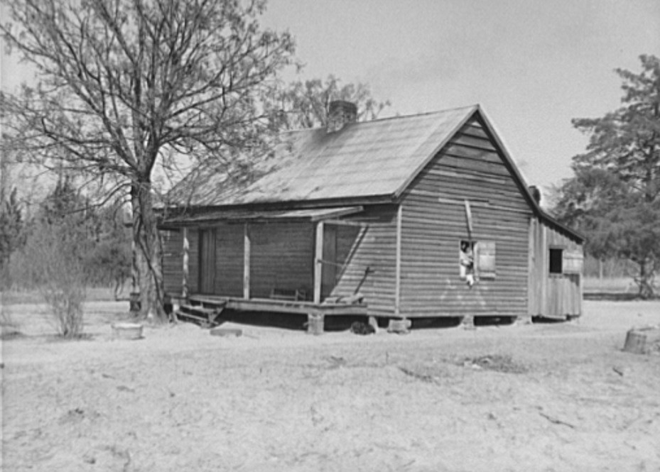 Sharecropper's home. Macon County, Alabama Feb. 1937 by photographer Arthur Rothstein