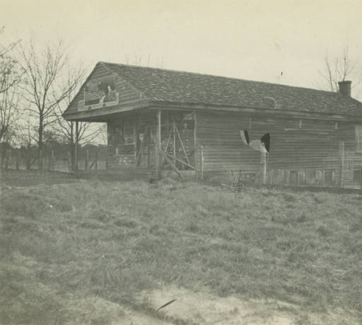 Stone home in Glennville, Alabama. The house was built by Burnett and Johnson in 1848-9