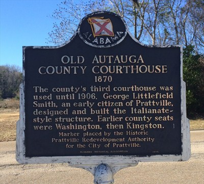 autauga county historic marker