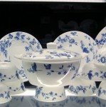 Bring eight of your best china plates and cups