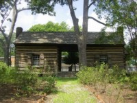 Patron+ The First Territorial Governor Lived In A Log Cabin like this