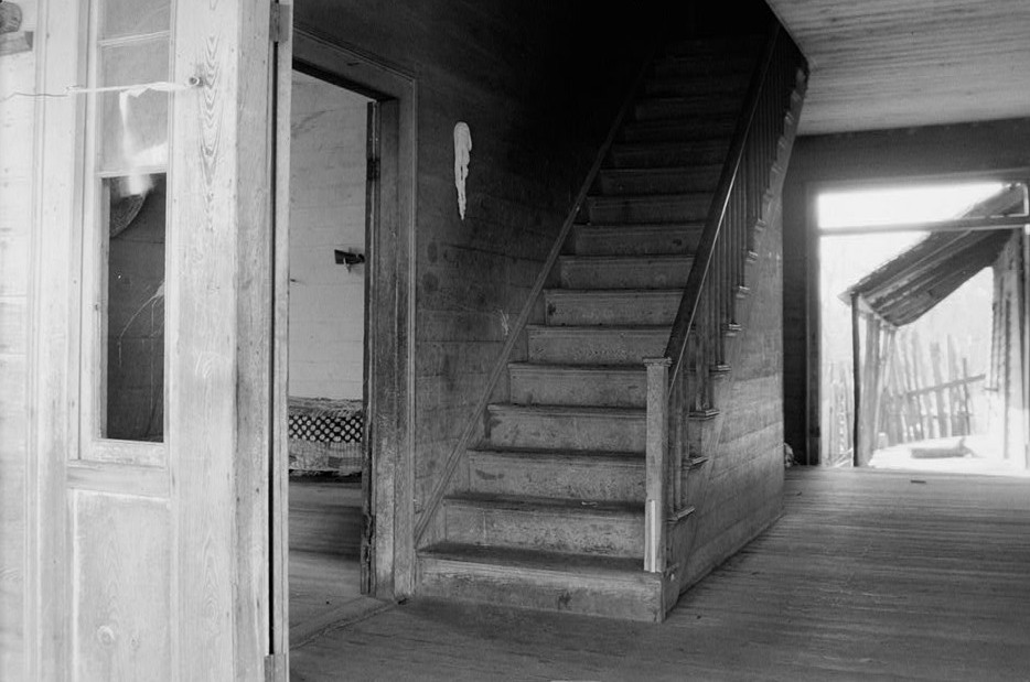Chitley house - HALL AND STAIRWAY, TOWARD WEST FROM FRONT DOOR