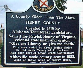 Henry county marker