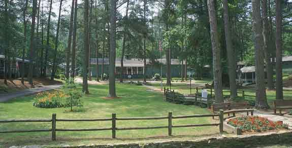 camp mac courtyard