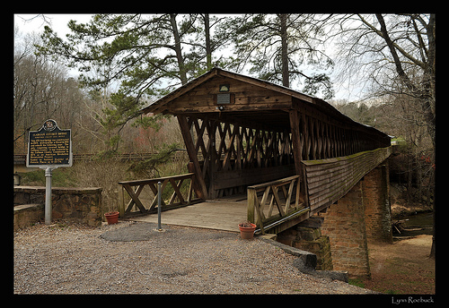 Clarkson Covered Bridge, Cullman County - one of the longest covered bridges standing in the Deep South