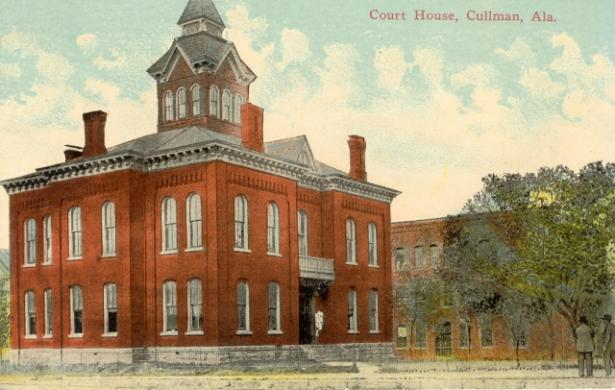 Cullman County was created by the Legislature January 24, 1877