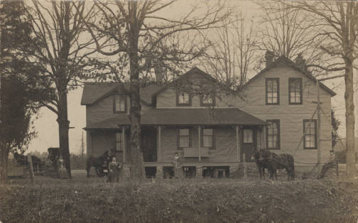 family in front of house in cullman