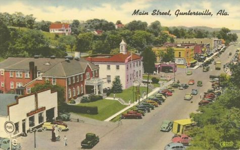 main street Guntersville, Alabama postcard