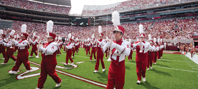 Here comes the Alabama Million Dollar Band - some traditions you may not know about