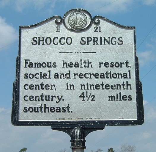 shocco springs marker