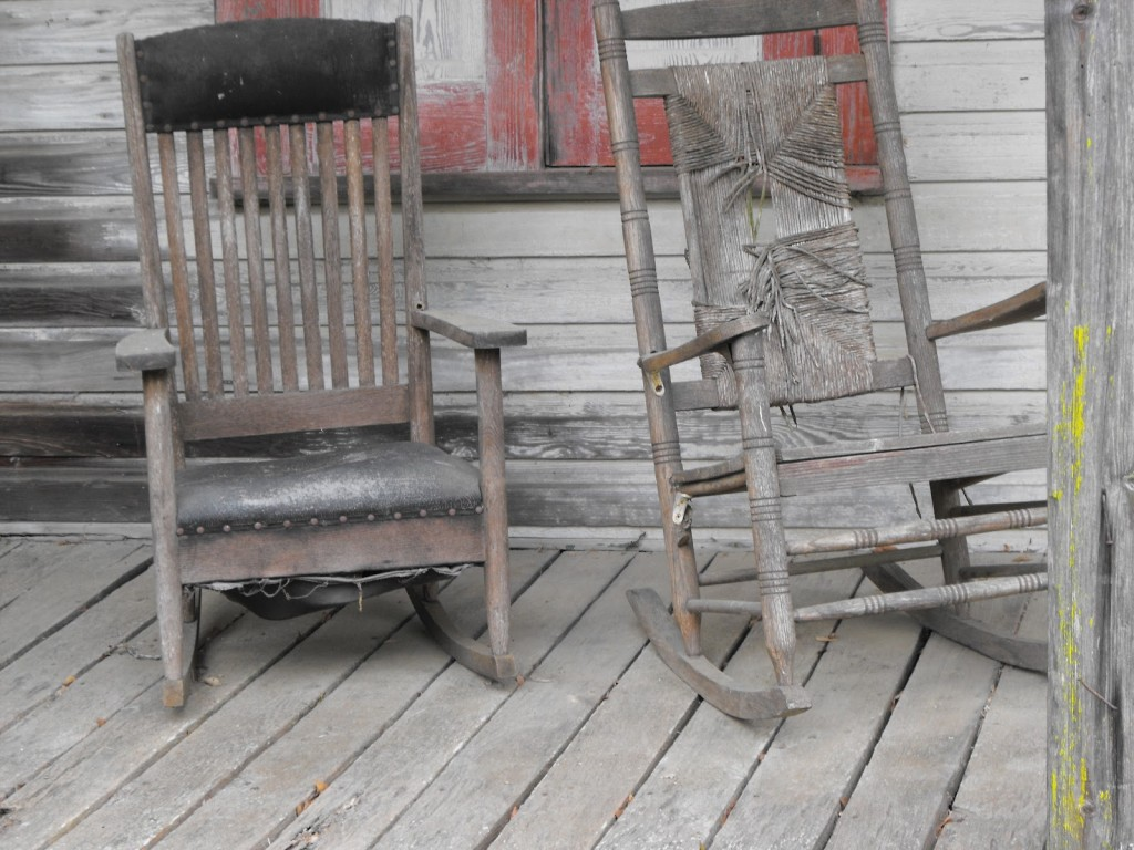 old rocking chairs