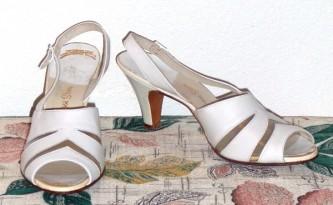 open toe shoe 1950