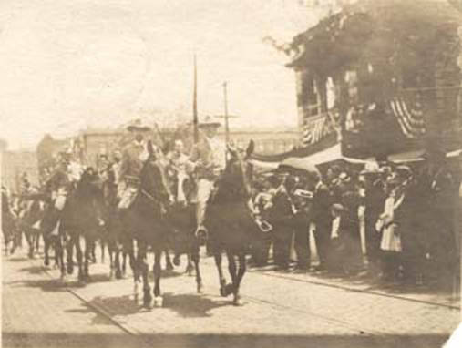 thomas owen leading a confederate parade