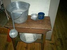 water bucket and dipper
