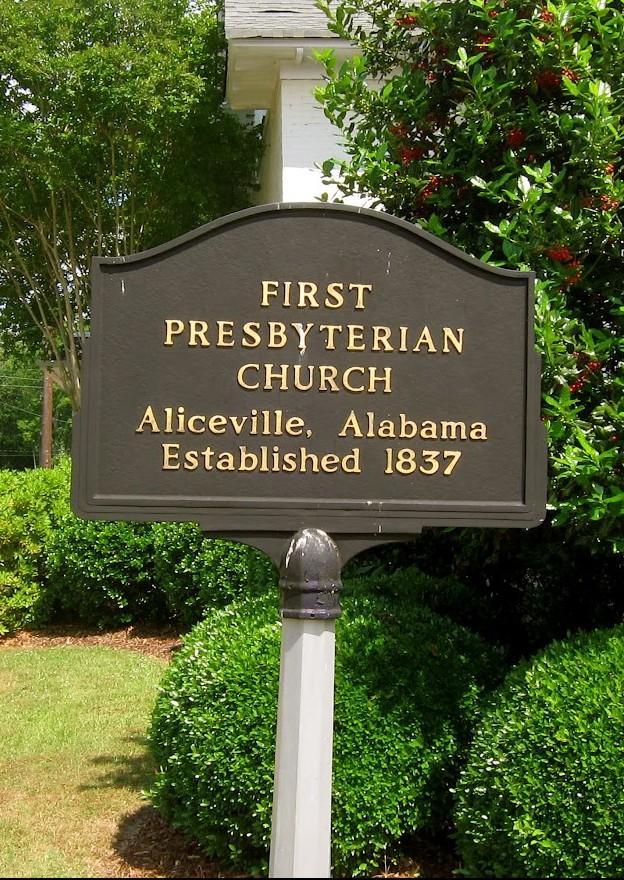 Presbyterian Church – my first preach was made, in a little