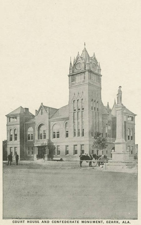 Dale County Court house in Ozark, Alabama ca. 1900 postcard (Alabama Department of Archives and History)