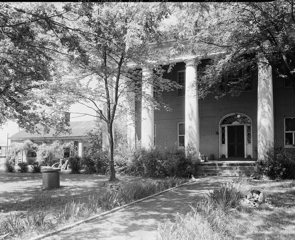 Gov. Thomas Bibb House, Bella Mina, Limestone County, Alabama 1939 by Photographer Benjamin Francis Johnston