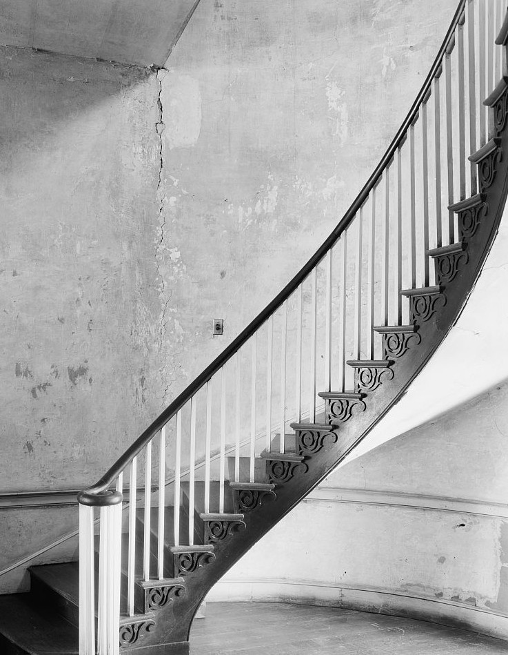 Gov. Thomas Bibb House, Huntsville, Alabama. Stair Governor Thomas Bibb House, 1939 by Photographer Benjamin Frances Johnston