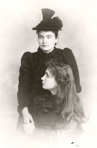 Hellen Keller and Anne Sullivan ca. 1893