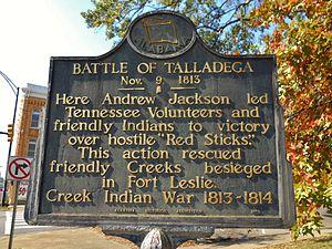 Talladega battle of sign