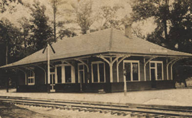 Train station in Maplesville, chilton county alabama state archives