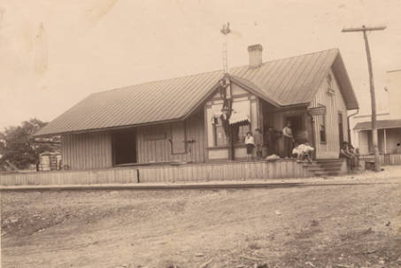 Train stations at Jemison, Chilton County, Alabama