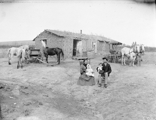 Typical home of some of the immigrants from Nebraska