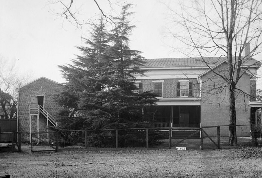 W. N. Manning, Photographer, January 26, 1934. Rear view - Southeast elevation - Governor Thomas Bibb House, 303 Williams Street, Huntsville, Madison County, AL