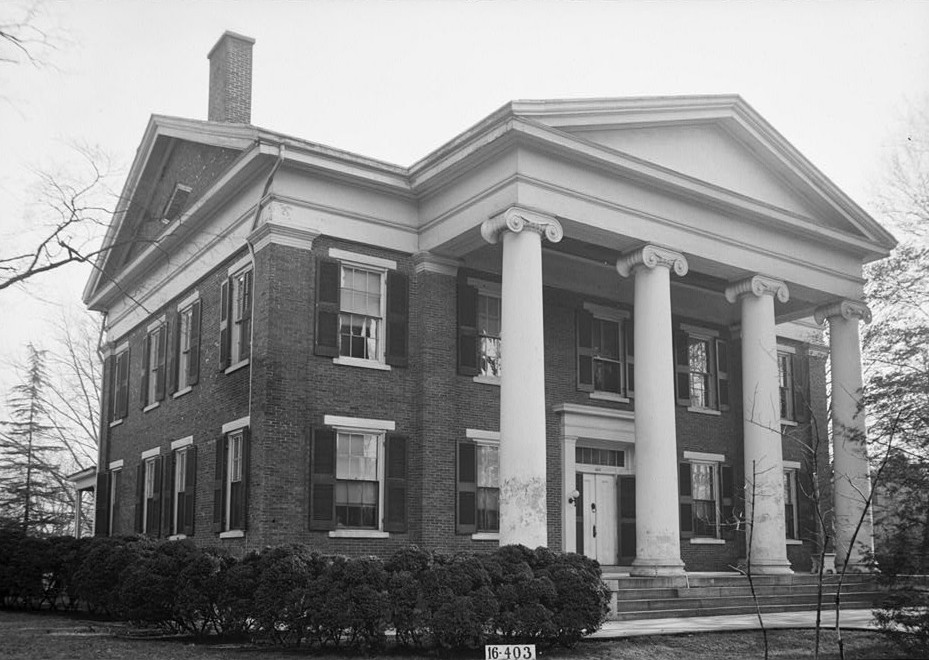 W. N. Manning, Photographer, March 17, 1934. FRONT VIEW - NORTHWEST ELEVATION. - Governor Thomas Bibb House, 303 Williams Street, Huntsville, Madison County, AL
