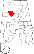 Walker County, map