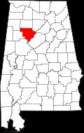 Walker County, map
