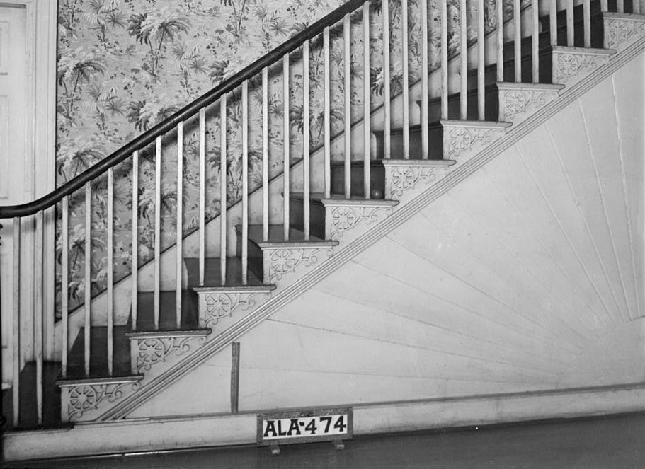 burritt house fan detail in stair