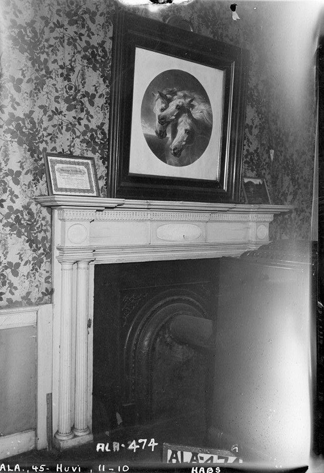 burritt house mantel in NE room