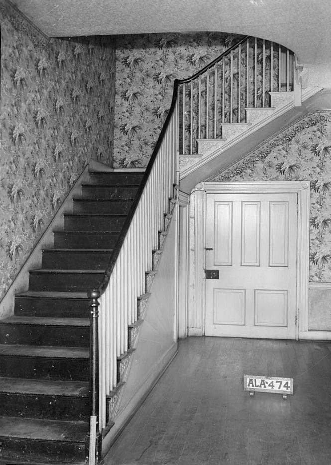 burritt house stair and rear door in hall