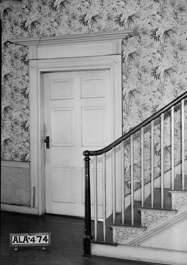 burritt stair detail and door in hall front 1st floor