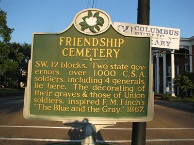 friendship cemetery sign