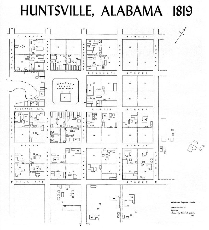 huntsville map 1819