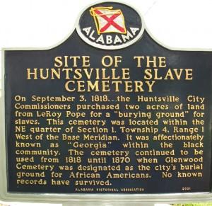 huntsville slave cemetery