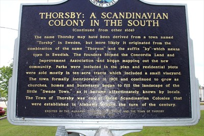 thorsby historical marker