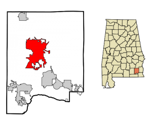 550px-Dale_County_Alabama_Incorporated_and_Unincorporated_areas_Ozark_Highlighted