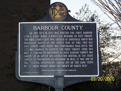 Barbour county sign marker