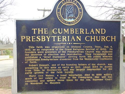 Cumberland presbyterian sign