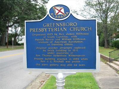 Greensboro Presbyterian Church marker