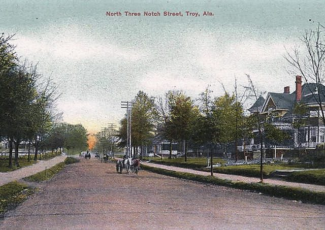 Troy once burned to the ground in 1901 and was rebuilt, now it's a thriving college town [see vintage pics]