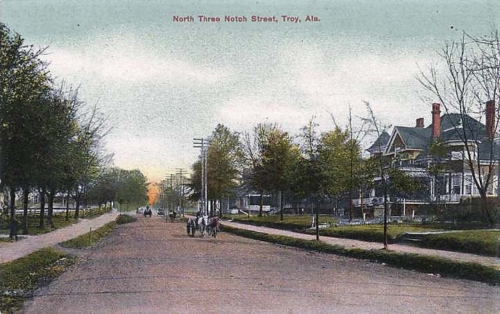 Troy once burned to the ground in 1901 and was rebuilt, now