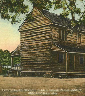 Marshall-county-Presbyterian-mission-oldest-house-in-the-county-Guntersville-Alabama