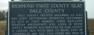 Dale County, Alabama - the county seat traveled between several cities before settling in Ozark