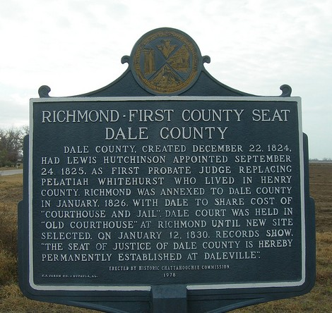 Richmond, dale county sign