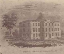 Simpson Manuscript – The Legislature donated the Old Capitol building to the State University in Tuscaloosa.